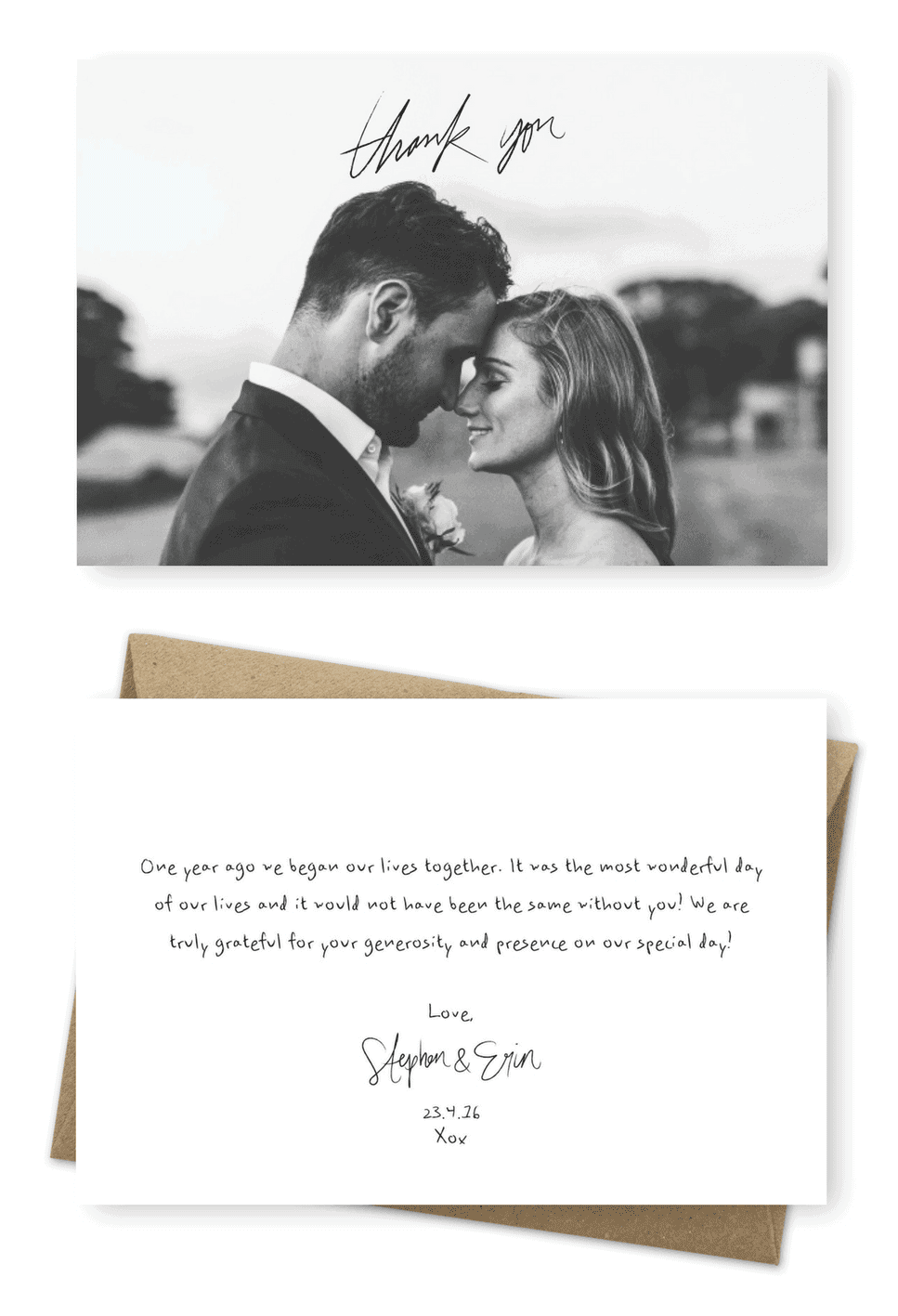 10 Best Rustic Wedding Photo Thank You Cards For The Love Of