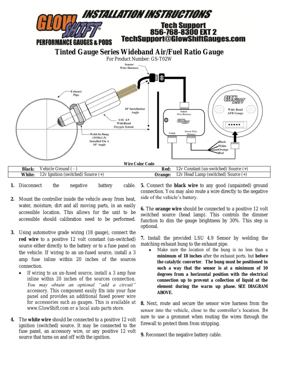 Air Fuel Ratio Gauge Wiring Diagram
