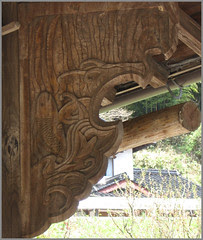 083 carp carving roof supporter