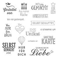 Von mir gestempelt Clear-Mount Stamp Set (German)