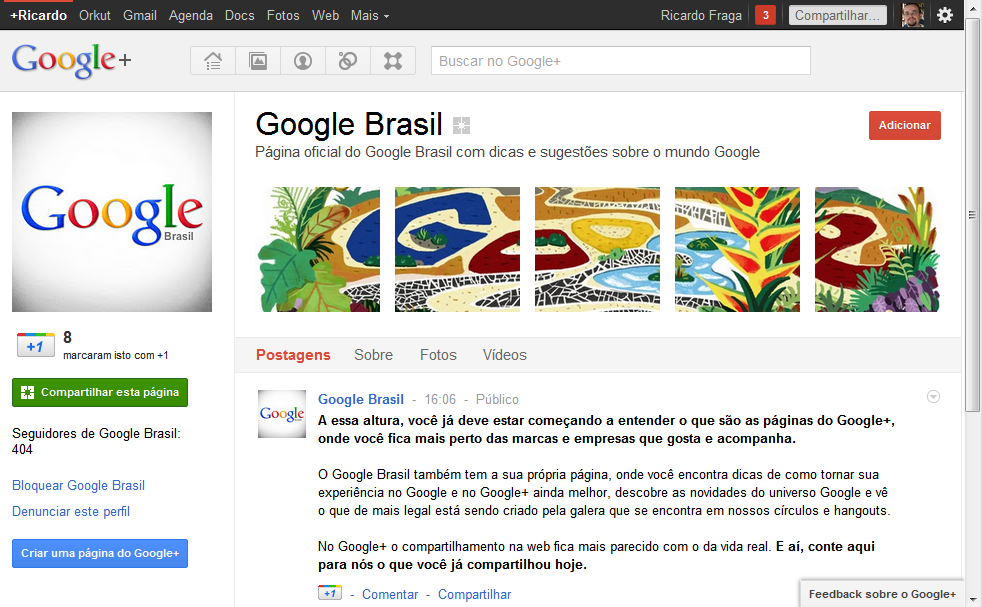 google plus paginas Google implementa páginas no Google+