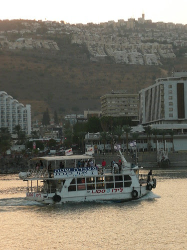 Tour boat on the Sea of Galilee Tiberias