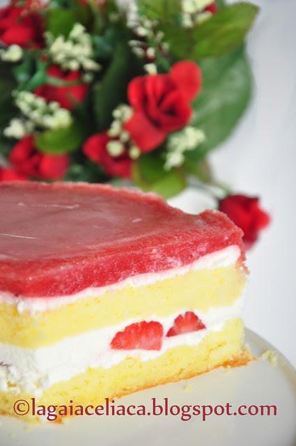 torta fragole e chantilly allo yogurth - l'interno