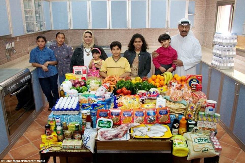 Κουβέιτ: Η Αλ Haggan οικογένεια από Πόλη του Κουβέιτ με £ 140 εβδομαδιαία κατάστημά τους