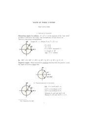 Unit Circle Study Resources