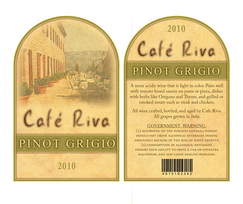 Cafe Riva White Wine Labels