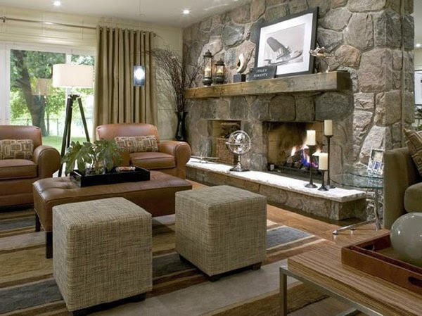 Best Of Stone Fireplace Small Living Room images