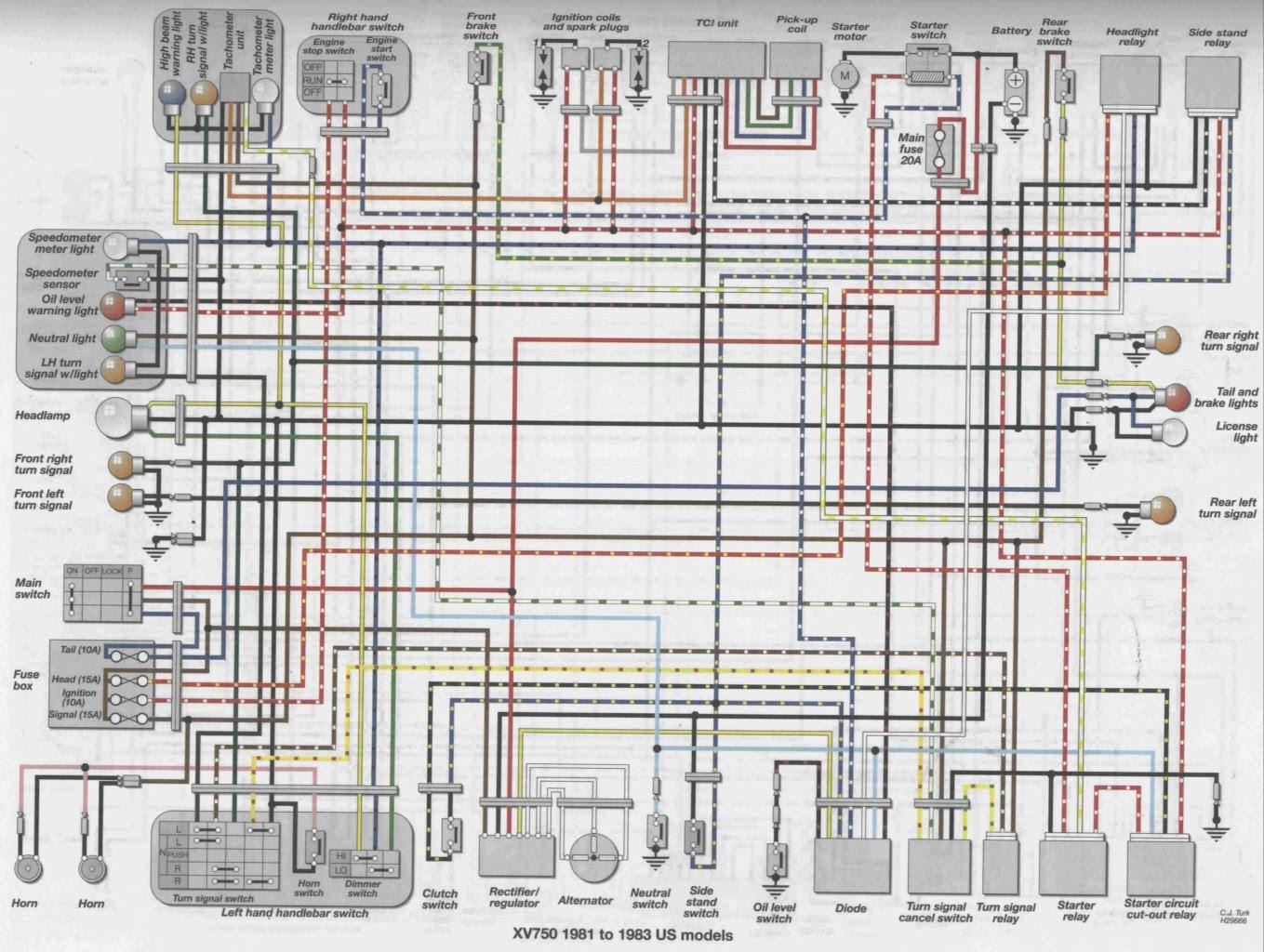 Wiring Diagram Xv750 - Home Wiring Diagram