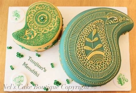 Indian Wedding Cake   Henna Pattern Paisley Design