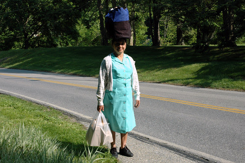woman carrying groceries in gladwyne