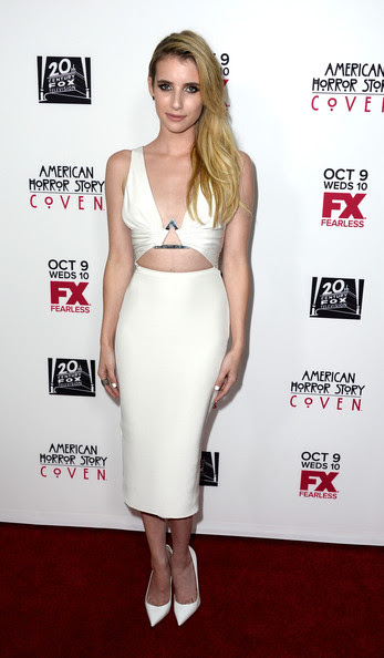 "Emma Roberts Actress Emma Roberts attends the Premiere Of FX's ""American Horror Story: Coven"" after party at Fig & Olive Melrose Place on October 5, 2013 in West Hollywood, California."