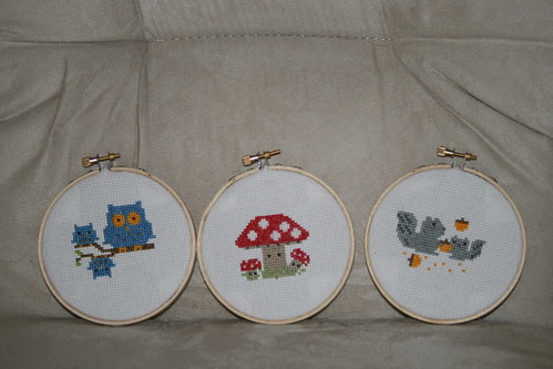 forest friends cross stitch