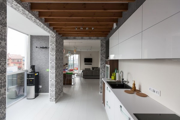 Modern Minimalistic Apartment With White Walls And Floors Home Interior Design Kitchen And Bathroom Designs Architecture And Decorating Ideas
