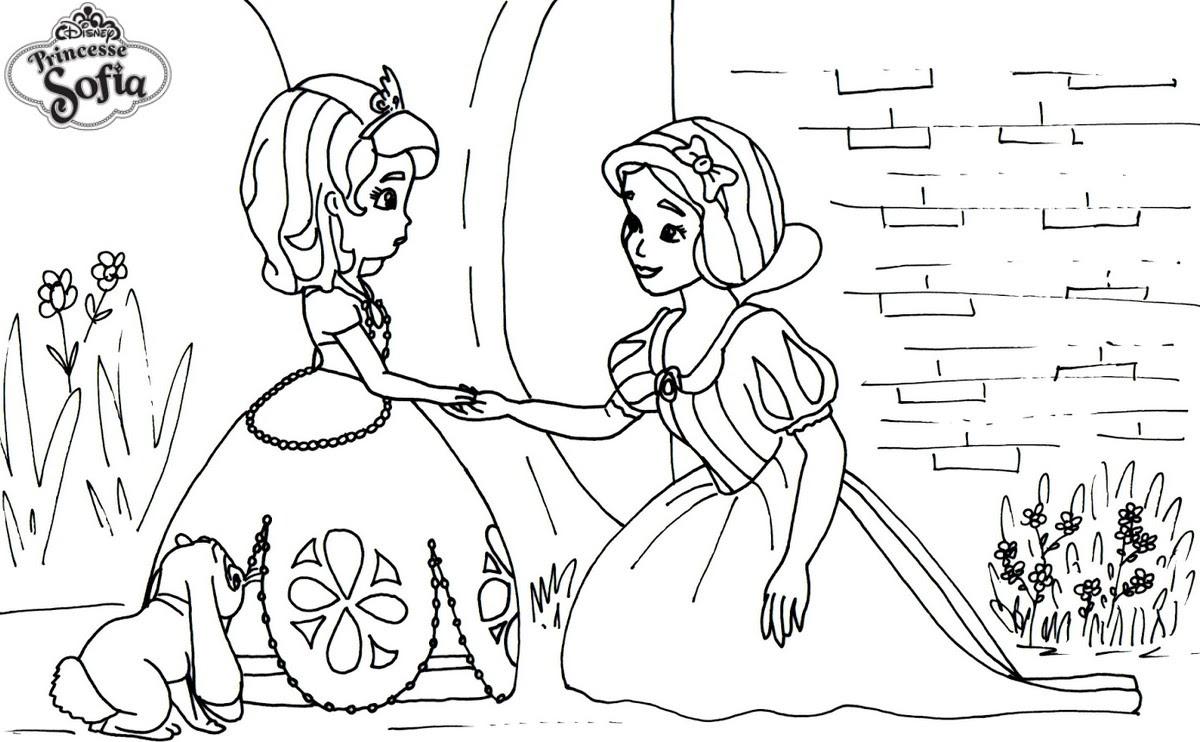 coloriage princesse sofia et blanche neige