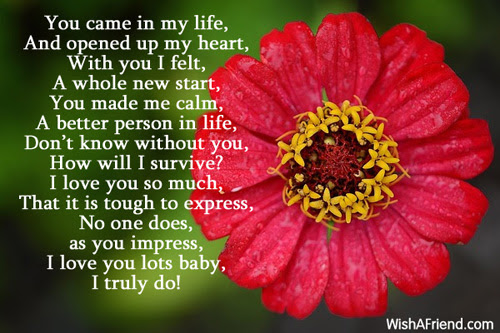 You Are Everything To Me I Love You Poem