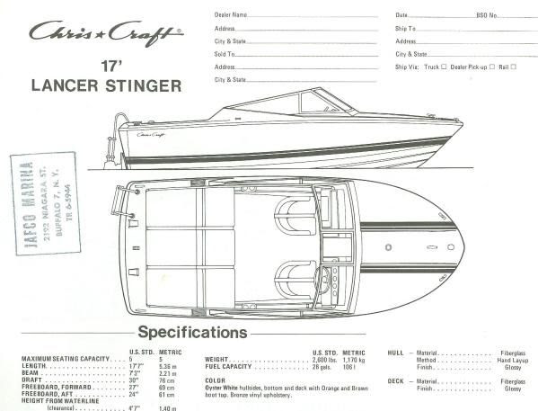 The Chris-Craft Stinger - Arch Over Troubled Waters ...