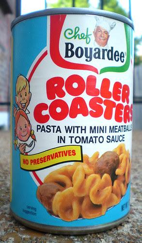 1986 Chef Boyardee Roller Coasters Pasta Tin Can Bank