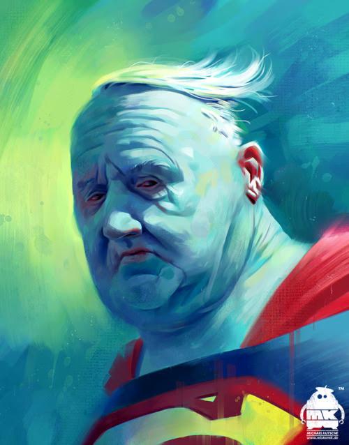 Super Homen velho e gordo… meus heróis morreram de overdose…