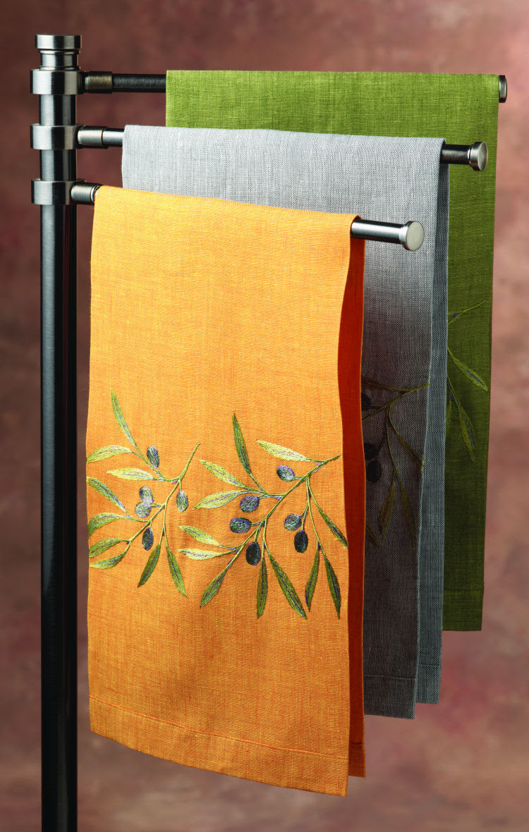 Anali Kitchen Towels - Embroidered Table Linens