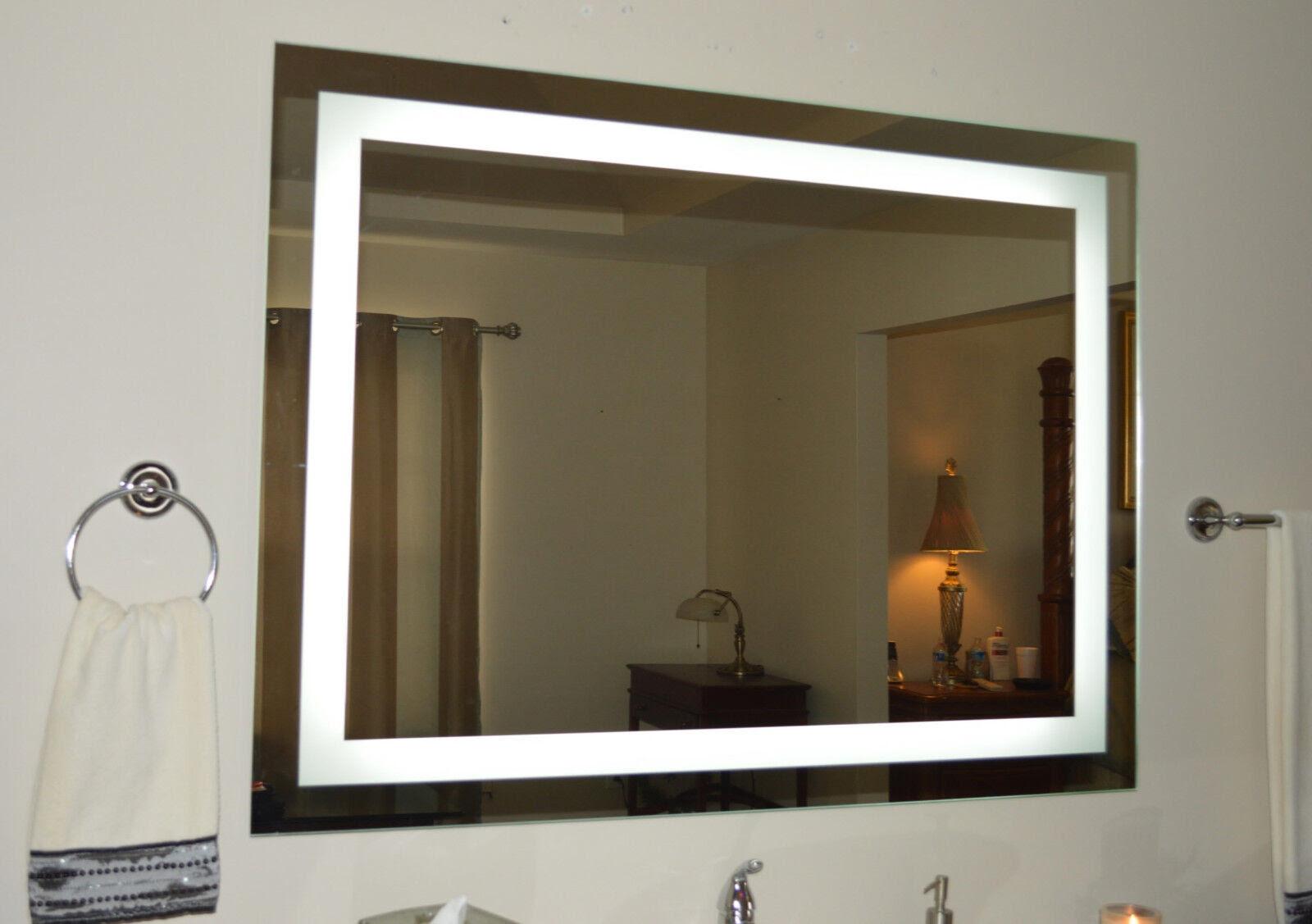 Lighted bathroom vanity mirror, led , wall mounted, 48 ...