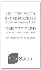 CPS-1086 - salon coupon card