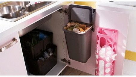 ahorrar espacio con basurero movil