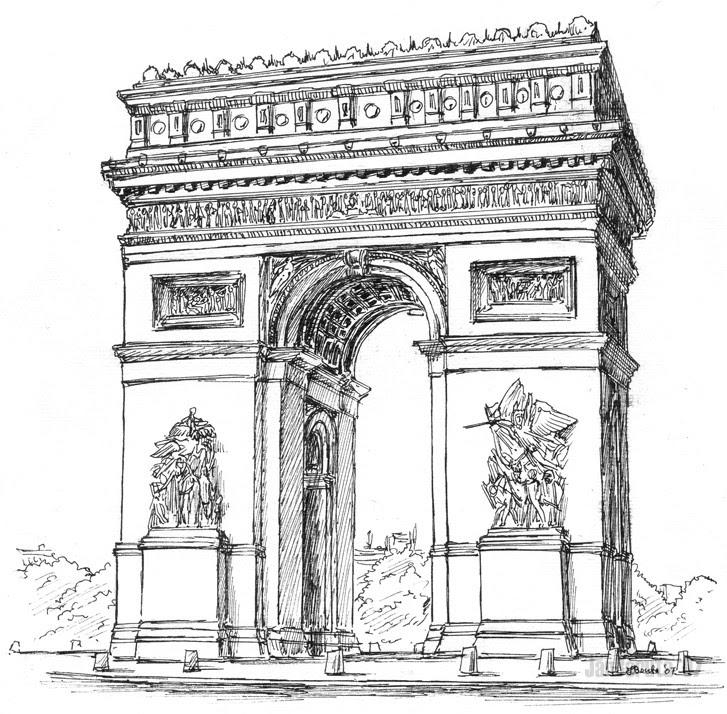 Coloriage Europe Paris Arc De Triomphe 2