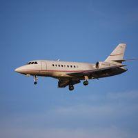 Abelag dispose de plusieurs Cessna mais aussi, comme ici, de Falcon (illustration).