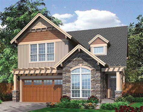 spacious open narrow lot home plan