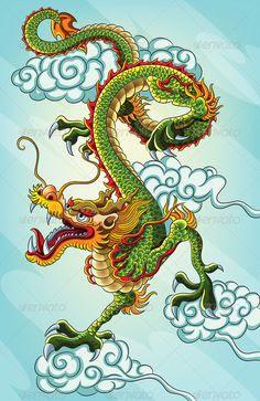Perfil De Dragones Chinos