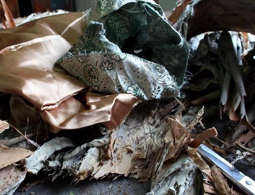 bark and fabric