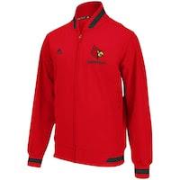 adidas Louisville Cardinals Sideline Transition Jacket - Red