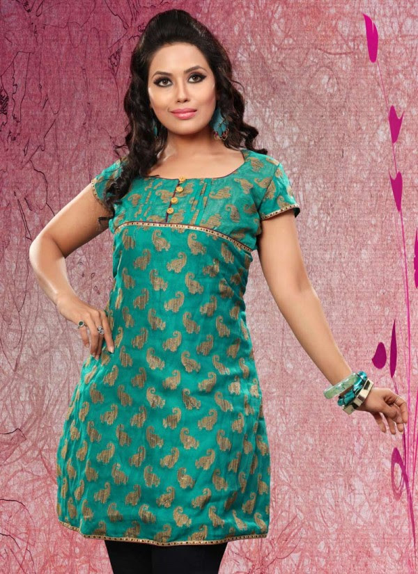 Womens-Girls-Summer-Kurti-Kurta-with-Tights-Jeans-Collection-2013-New-Fashionable-Dress-10