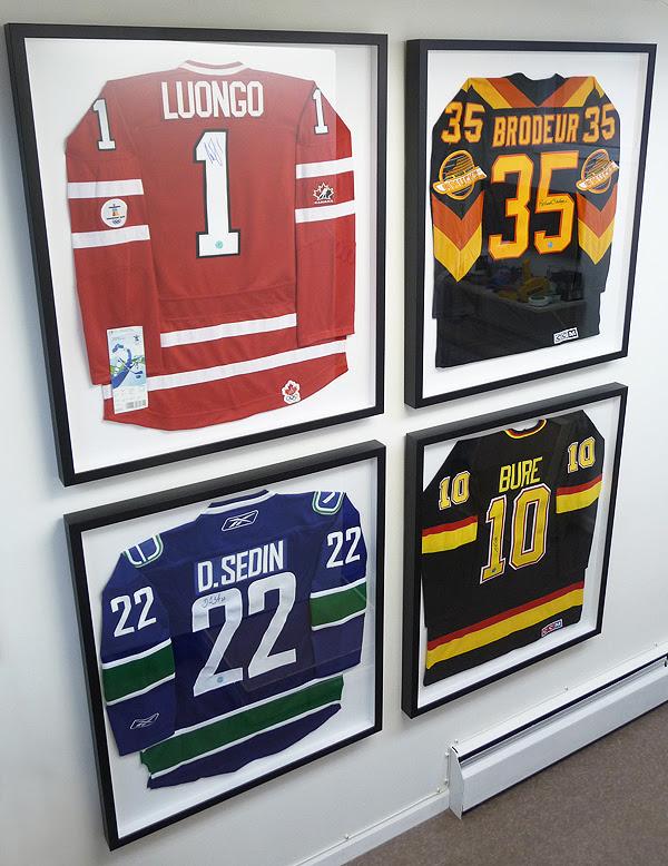 Framing Canucks Jerseys Framing Sports Jerseys Vancouver