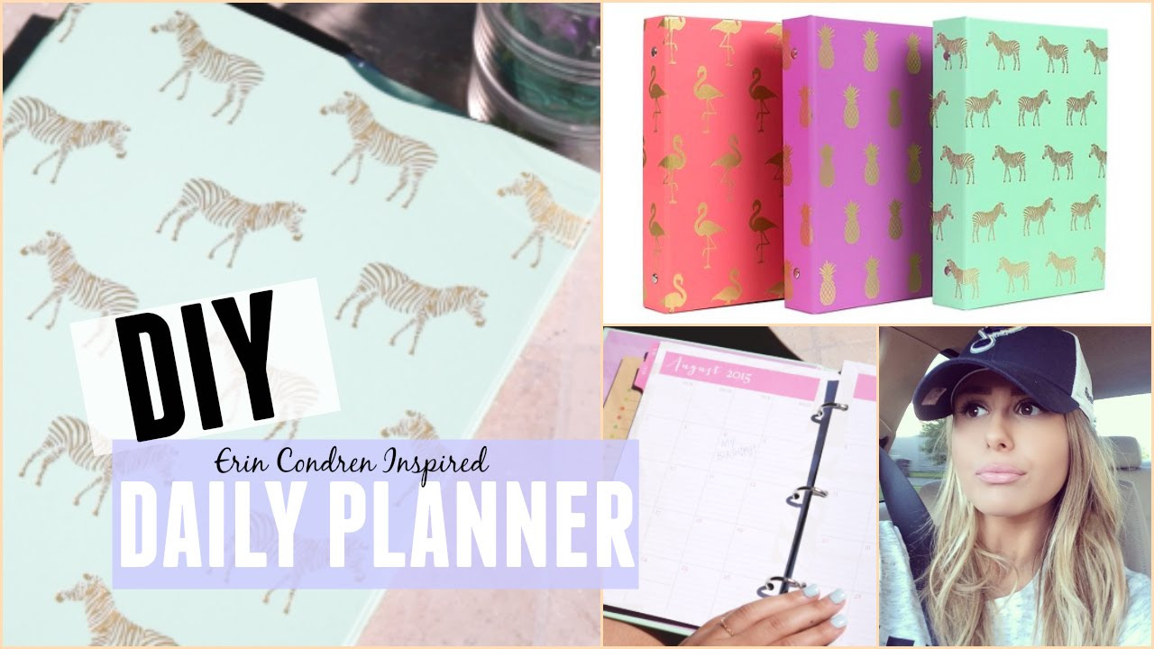 DIY: DAILY PLANNER ON A BUDGET - YouTube