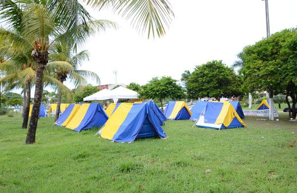 Policiais estão acampados no Centro Administrativo do RN