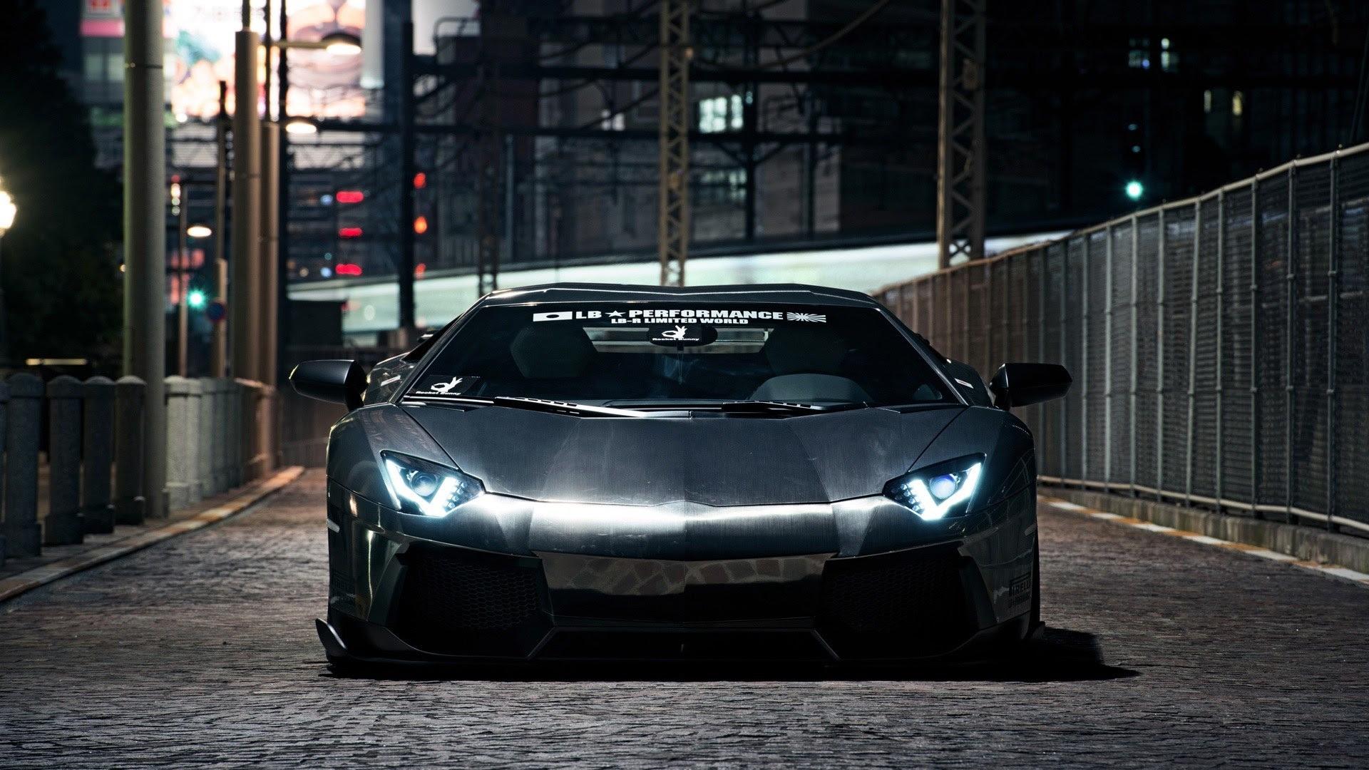 City Street Lamborghini Aventador Lp700 4 Wallpaper 1920x1080