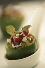 Bites - Mini Bell Pepper stuffed with Goat Cheese