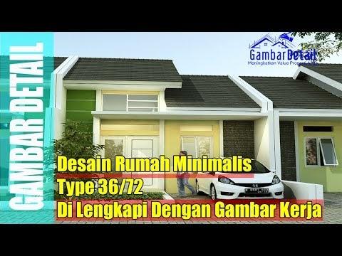 Viral Desain Rumah Minimalis Type 36 72, Video denah rumah ...