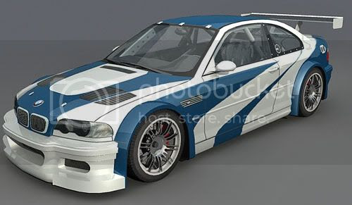BMW M3 GTR White blue