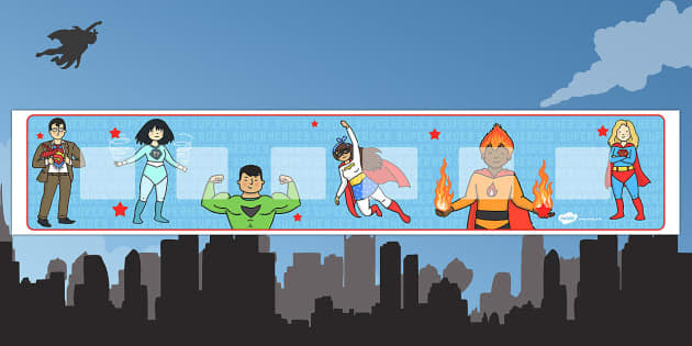 Superhero Themed Visual Timetable Display - Visual Timetable