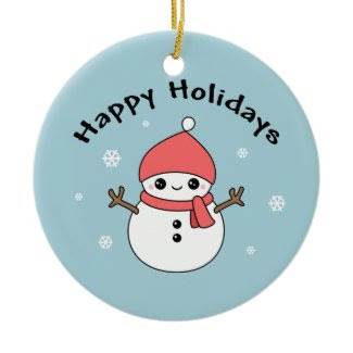 Cute Holiday Snowman ornament