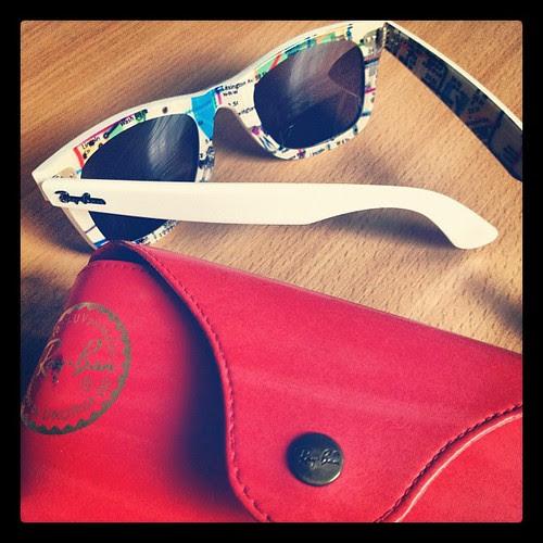 Day 16. Sunglasses #marchphotoaday #RayBan #limitededition #NYCsubway