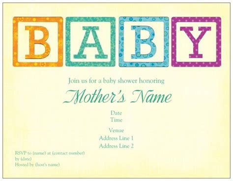 baby shower invites baby blocks vistaprint