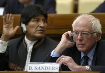 Bernie Sanders with Evo Morales