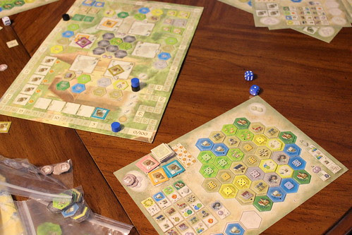 Playing Castles of Burgundy
