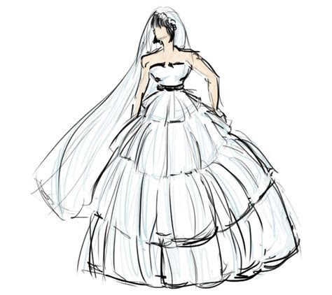 How to Draw a Wedding Dress   Fashion Belief