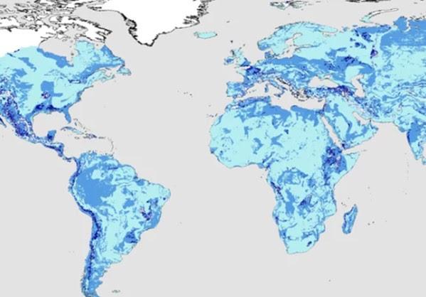 Η Γη διαθέτει 23 εκατομμύρια κυβικά χιλιόμετρα νερού κάτω από το έδαφος.