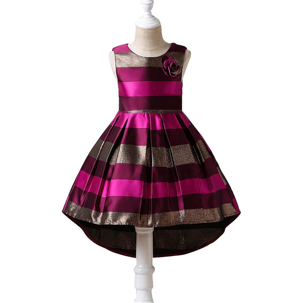 mädchen kleid für kinder festliche kleid elegant Ärmellos hochzeits festzug  prinzessin kleider abschlussball ballkleid