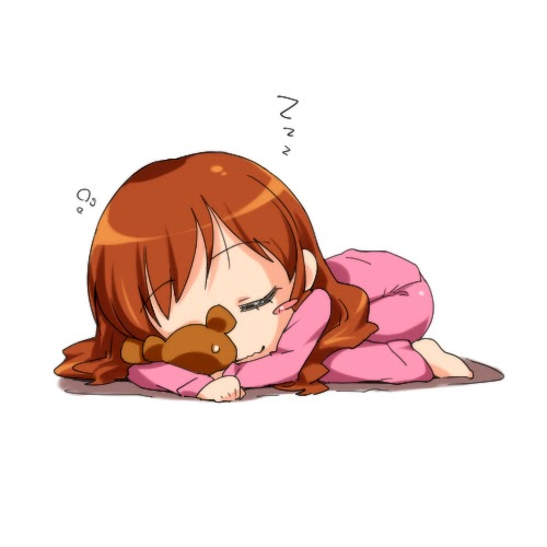 Tired girl animation